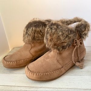 Minnetonka Cold Weather Boot, Dusty Brown, NWOB